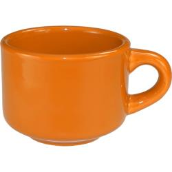 ITI - CA-23-O - 7 1/2 oz Cancun™ Orange Stackable Teacup image