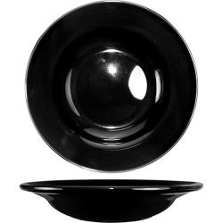 ITI - CA-3-B - 12 Oz Cancun™ Black Deep Rim Soup Bowl With Rolled Edge image