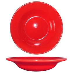ITI - CA-3-CR - 12 Oz Cancun™ Crimson Red Deep Rim Soup Bowl With Rolled Edge image