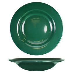 ITI - CA-3-G - 12 Oz Cancun™ Green Soup Deep Rim Bowl With Rolled Edge image
