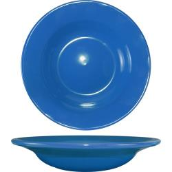 ITI - CA-3-LB - 12 Oz Cancun™ Light Blue Deep Rim Soup Bowl With Rolled Edge image