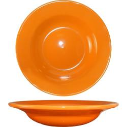 ITI - CA-3-O - 12 Oz Cancun™ Orange Deep Rim Soup Bowl With Rolled Edge image