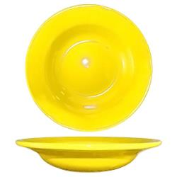 ITI - CA-3-Y - 12 Oz Cancun™ Yellow Deep Rim Soup Bowl With Rolled Edge image