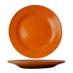 ITI - CA-7-O - 7 1/8 in Cancun™ Orange Rolled Edge Plate image