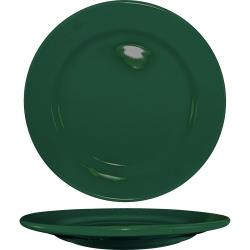 ITI - CA-9-G - 9 3/4 in Cancun™ Green Rolled Edge Plate image