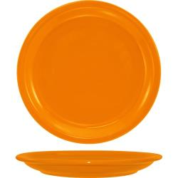 ITI - CAN-16-O - 10 1/2 in Cancun™ Orange Plate with Narrow Rim image