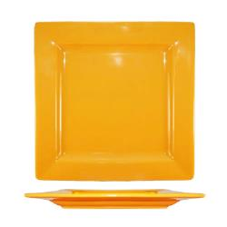 International Tableware - EL-10-BN - 10 3/4 in Elite Harvest Orange Square Plate image