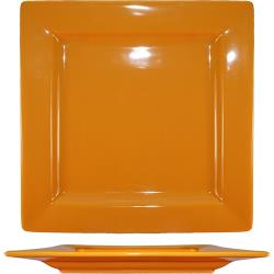 ITI - EL-10-BN - 10 3/4 in Elite Harvest Orange Square Plate image