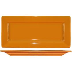 ITI - EL-17-BN - 11 in Elite Harvest Orange Rectangle Platter image