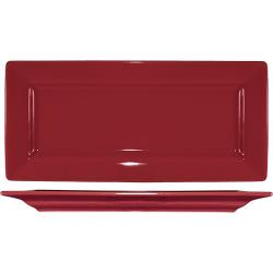ITI - EL-17-RH - 11 in Elite Harvest Red Rectangle Platter image