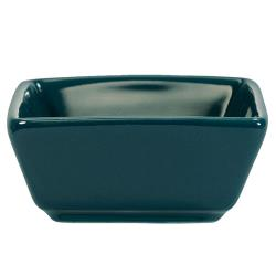 International Tableware - EL-4-BB - 3 1/2 oz Elite Harvest Blue Square Ramekin image