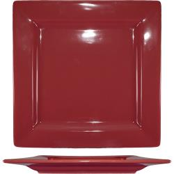 ITI - EL-6-RH - 6 1/4 in Elite Harvest Red Square Plate image