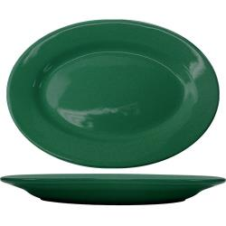 ITI - CA-12-G - 10 3/8 in x 7 1/4 in Cancun™ Green Platter With Rolled Edging image