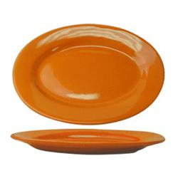ITI - CA-12-O - 10 3/8 in x 7 1/4 in Cancun™ Orange Platter with Rolled Edging image