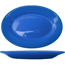 ITI - CA-13-LB - 11 1/2 in x 8 1/4 in Cancun™ Light Blue Platter w/ Rolled Edge image