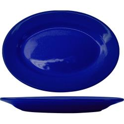 ITI - CA-14-CB - 12 1/2 in x 9 in Cancun™ Cobalt Platter With Rolled Edging image