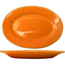 ITI - CA-14-O - 12 1/2 in x 9 in Cancun™ Orange Platter With Rolled Edging image