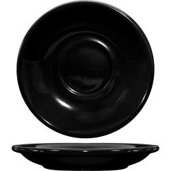 ITI - CA-2-B - 6 in Cancun™ Black Saucer With Rolled edging image