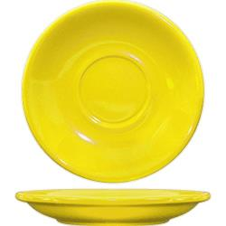 ITI - CA-2-Y - 6 in Cancun™ Yellow Saucer With Rolled edging image