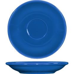 ITI - CA-36-LB - 5 1/5 in Cancun™ Light Blue A.D. Saucer With Rolled edging image