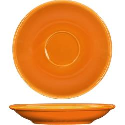 ITI - CA-36-O - 5 1/5 in Cancun™ Orange A.D. Saucer With Rolled edging image