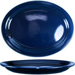 ITI - CAN-12-CB - 9 3/4 in x 7 in Cancun™ Cobalt Platter With Narrow Rim image