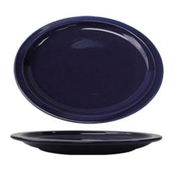 ITI - CAN-13-CB - 11 1/2 in x 9 1/4 in Cancun™ Cobalt Platter With Narrow Rim image