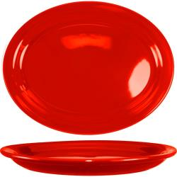 ITI - CAN-13-CR - 11 1/2 in x 9 1/4 in Cancun™ Crimson Red Platter w/ Narrow Rim image