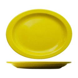 ITI - CAN-13-Y - 11 1/2 in x 9 1/4 in Cancun™ Yellow Platter With Narrow Rim image