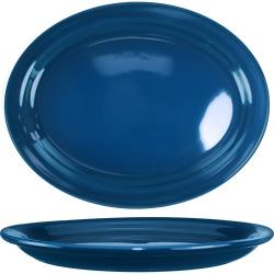 ITI - CAN-14-LB - 13 1/4 in x 10 3/8 in Cancun™ Light Blue Platter With Narrow Rim image