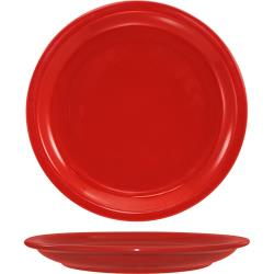 "ITI - CAN-16-CR - Cancun™ 10 1/2"" Crimson Red Plate w/Narrow Rim image"