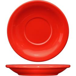 ITI - CAN-2-CR - 5 1/2 in Cancun™ Crimson Red Saucer With Narrow Rim image