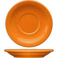 ITI - CAN-2-O - 5 1/2 in Cancun™ Orange Saucer With Narrow Rim image