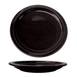 "ITI - CAN-6-B - Cancun™ 6 1/2"" Black Plate w/Narrow Rim image"