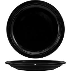 "ITI - CAN-8-B - Cancun™ 9"" Black Plate w/Narrow Rim image"