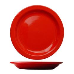 "ITI - CAN-9-CR - Cancun™ 9 1/2"" Crimson Red Plate w/Narrow Rim image"