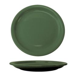 "ITI - CAN-9-G - Cancun™ 9 1/2"" Green Plate w/Narrow Rim image"
