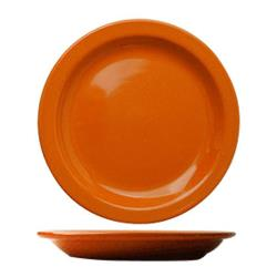 "ITI - CAN-9-O - Cancun™ 9 1/2"" Orange Plate w/Narrow Rim image"