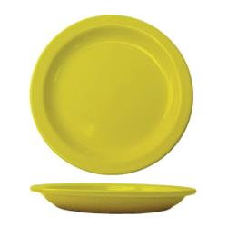 "ITI - CAN-9-Y - Cancun™ 9 1/2"" Yellow Plate w/Narrow Rim image"