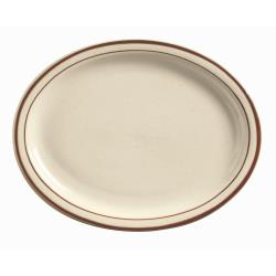 World Tableware - DSD-12 - 9 1/2 in Desert Sand Cream White Platter image