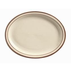 World Tableware - DSD-14 - 13 1/4 in Desert Sand Cream White Platter image