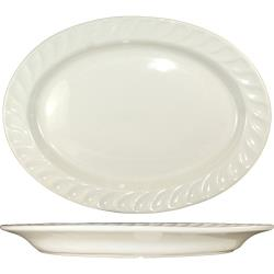 ITI - HA-14 - 11 7/8 in x 8 1/2 Platter With Embossed Fluted Edge image