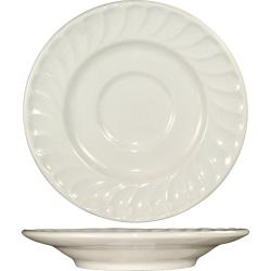 ITI - HA-6 - 6 in Saucer With Embossed Fluted Edge image