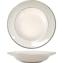 ITI - FL-3GF - 12 Oz Deep Rim Florentine™ Soup Bowl With Gold Band image