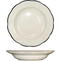 ITI - SY-105 - 18 Oz Sydney™ Pasta Bowl With Scalloped Edge and Black Band image