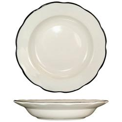 ITI - SY-115 - 22 Oz Sydney™ Pasta Bowl With Scalloped Edge and Black Band image