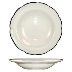 ITI - SY-3 - 10 1/2 Oz Sydney™ Soup Bowl With Scalloped Edge and Black Band image