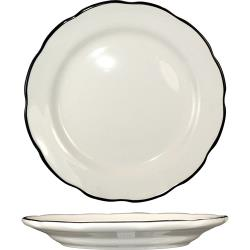 ITI - SY-16 - 10 3/4 in Sydney™ Plate With Scalloped Edge And Black Band image