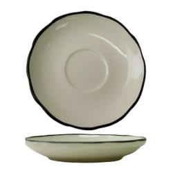 ITI - SY-2 - 5 3/4 in Saucer With Scalloped Edge and Black Band image