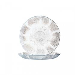 Cardinal - J0856 - 9 in Fleur Glass Dinner Plate image
